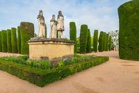 Garden of the Royal Alcazar, Cordoba, Andalusia, Spain, Europe
