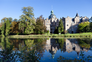 Castle Bueckeburg reflecting in the moat. Germany