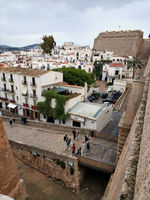 Old town of Ibiza. Spain
