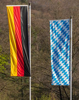German and Bavarian Flag