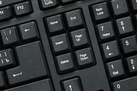 Computer keyboard top view