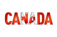 canadian flag text font