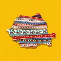 Decorative Romania map