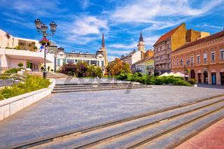 Novi Sad square and architecture street view