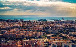 Panoramic view of Malaga city, Spain