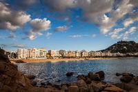 Blanes Town Seaside Resort On Costa Brava In Spain