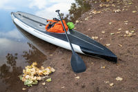 touring stand up paddleboard with dry bags