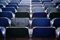 Rear view of stadium seats