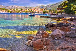 Town of Cavtat colorful Adriatic waterfront view