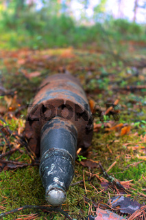 Mortar shell found in the woods