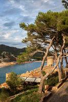 Tossa de Mar Town on Costa Brava in Spain