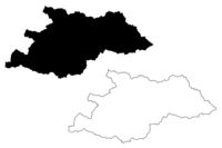 Maramures County (Administrative divisions of Romania, Nord-Vest development region) map vector illustration, scribble sketch Maramures map