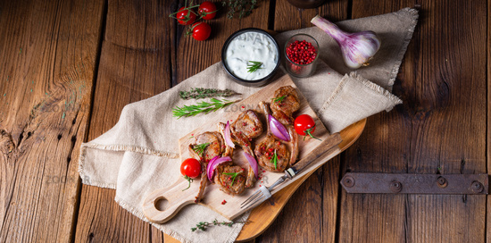 Tasty Lamb chops with mint and rosemary