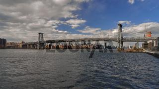Die Manhattan Bridge in New York City