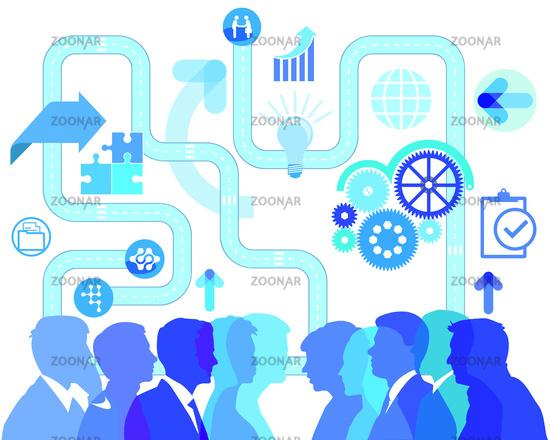 Business life, development and communication