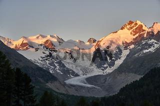 Berninagruppe in der Schweiz