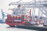 Big Cargo Containers Boat