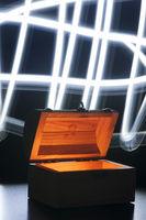 shady treasure chest wirh light brushs