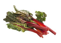 Fresh swiss chard, isolated on white