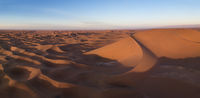 Aerial view on dunes in Sahara desert