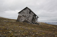 crooked Hut at Svalbard Coast