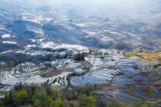 yuanyang terraced fields landscape