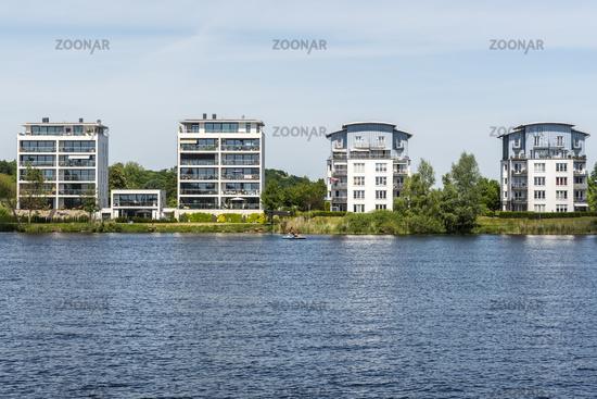 development area, Ziegelsee lake, Schwerin, Mecklenburg-Western Pomerania, Germany, Europe