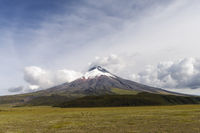 Cotopaxi stratovolcano in the Andes of Ecuador, South America.