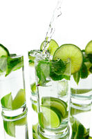 Making mojito cocktails