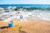 Beach with toys