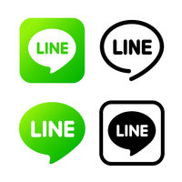 Line sign, green chat symbol. Web icon comments color. Messenger icon Vector illustration