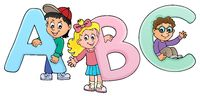 Children with letters ABC theme 2