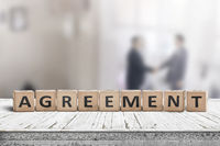 Agreement sing on a word with business men