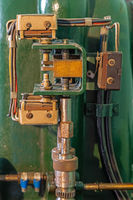 Details of a turbine governor in an old power plant