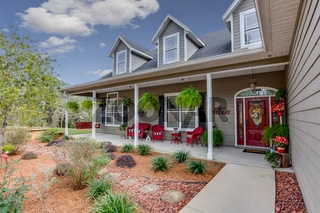 Ranch Style Home Exterior Modern Architectural Real Estate View American Style Dream Home