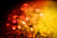 Red yellow glitter lights bokeh