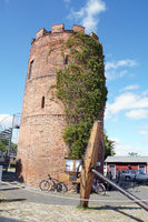 Fangenturm, former prison tower, part of the historic city fortification at the Museum Harbor