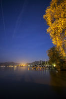 Chiemsee at night
