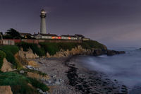 Pigeon Point Light Station and Hostel at Night.