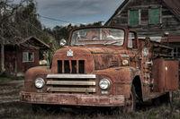 Old Rusty Abandoned Truck Near Shelton, WA