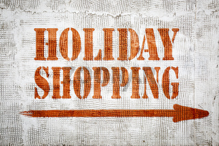 holidays shopping graffiti