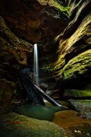 Waterfall into a canyon in Blue Mountains