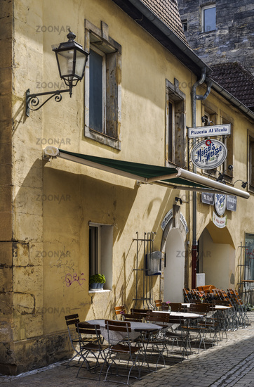In the old town alleys of Bayreuth. . .