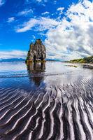 Rock on the sea beach