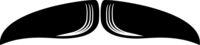 Chevron Moustache Icon Vector