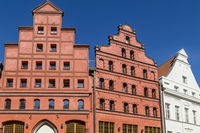 historic houses with gables, Stralsund, Germany