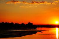Sunset at Luangwa, South Luangwa Nationalpark, Zambia