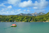 at Lake Klopeiner in Carinthia,Austria