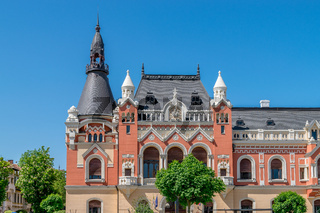 The Greek Catholic Bishop Palace in the center of Oradea, Romania, Crisana Region