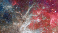 Universe filled with stars, nebula and galaxy. Elements of this image furnished by NASA.
